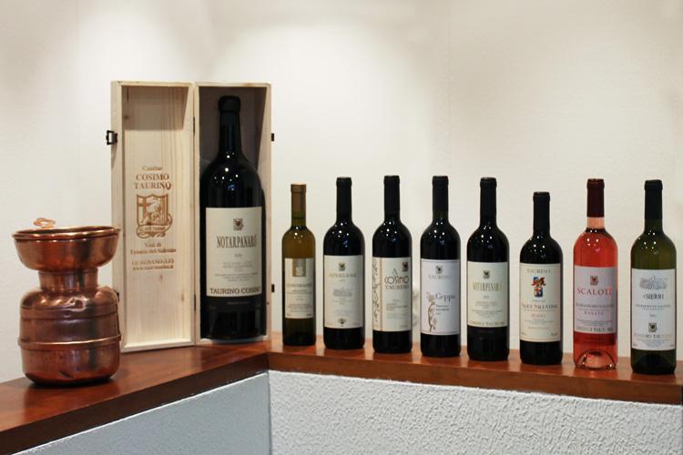 I vini di Cosimo Taurino in Masseria